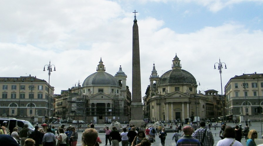 The Piazza del Popolo (Square of the People).