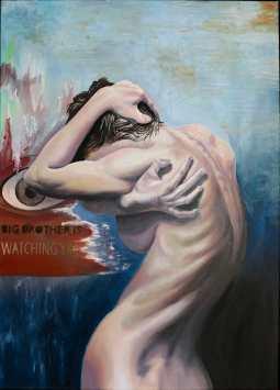 Barbara Mapelli - Big Brothers, 2016 , Olio su tela, 50 cm x 70 cm.
