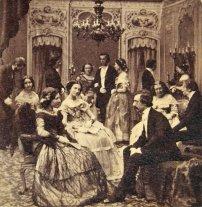 1860. salotto dopo uno spettacolo a Paris