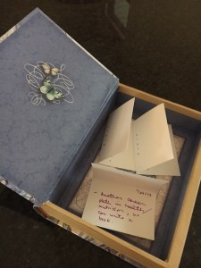 box of dreams with note