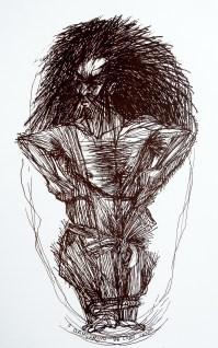 O Dançarino de Cabo Verde - Litografia