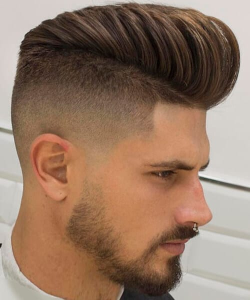Taper Fade With Beard For Boys Haircut