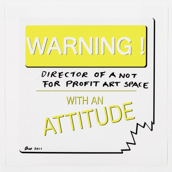 Warning _____ With An Attitude 2011, Archival Pigment Print, each customized with Sharpie Marker, 12 x 12 inches