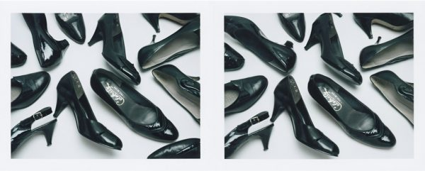 "Barb Choit, ""Shoe Diptych #1,"" 2015, Fujifilm FP-100c instant film, 2 prints, each 3.25 x 4.25 inches.jpg"