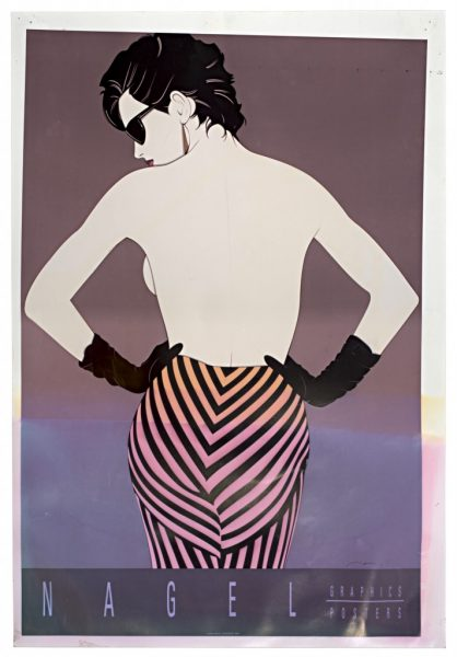 Patrick Nagel, Striped Pants, Ink Jet Print on Commercial Proofing Paper, Bleach Bath, 2009, digital c-print, 24 x 16.5 inches, 61 x 42 cm.