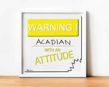 Warning _____ With An Attitude 2011/2019 Archival pigment print customized with Sharpie Marker 12 x 12 inches
