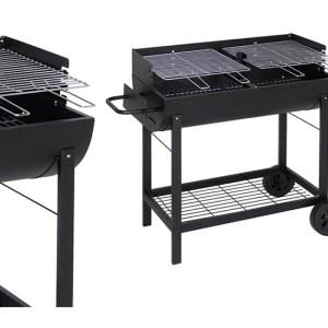 barbecue halfrond 86x47cm.