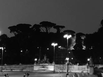 Villa Borghese taken from Piazza Del Popolo