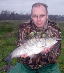 Andy likes to catch big chub - 5.13 - from St Patrick's Stream, December 2006
