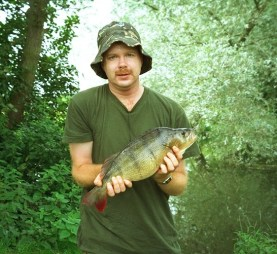 Perch, 4.05, Kennet, August 1993. Was thought by the Angling Times to be a Kennet record at the time.