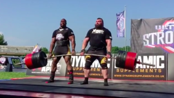 Eddie Hall And Mark Felix Set New Partner Deadlift World