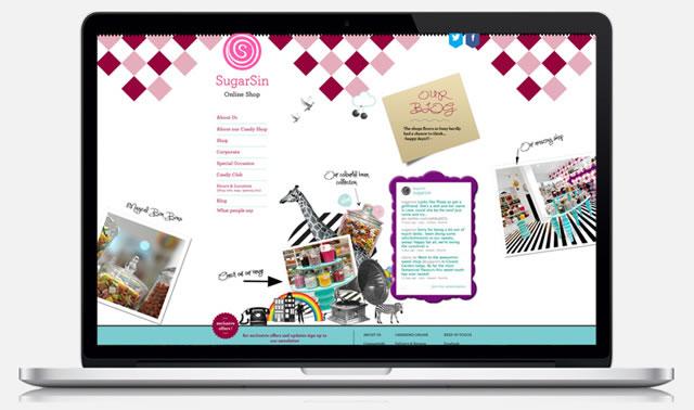 SugarSin London website design