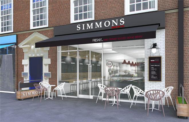putside the Simmons Bakery flasghip store