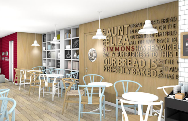 Inside the new Simmons bakery store