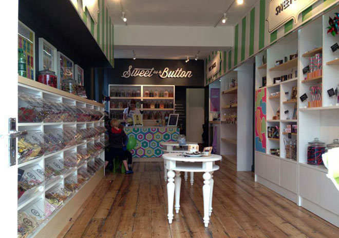inside the new sweet shop