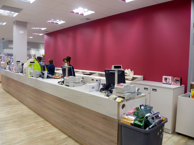 the sales area at the new Heatons store