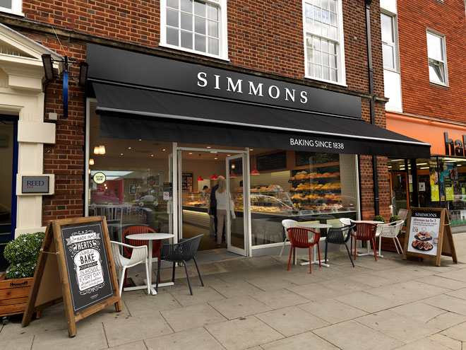 Simmons Bakery Welwyn garden City
