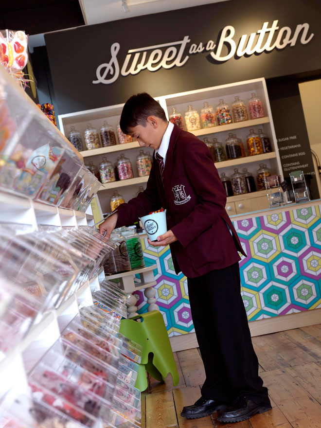 pick and mix display at Sweet as a Button