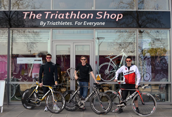 The current site of the Triathlon Shop is in Temple Quay