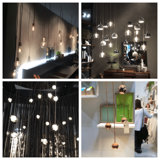 Using a range of small light bulbs as lamps