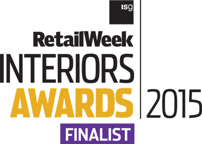 Barber Design are finalists in four categories at the Retail Week Interiors Awards 2015
