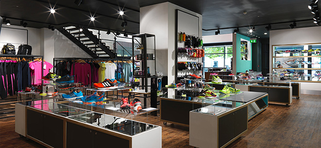 The award-winning Triathlon Shop interior in Bristol