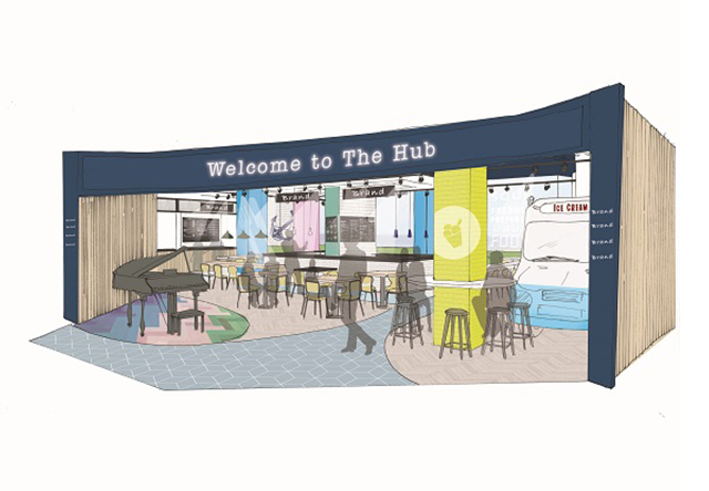 New food court design for the Sovereign Shopping Centre in Weston