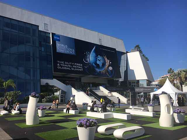 TFWA travel retail  event in Cannes