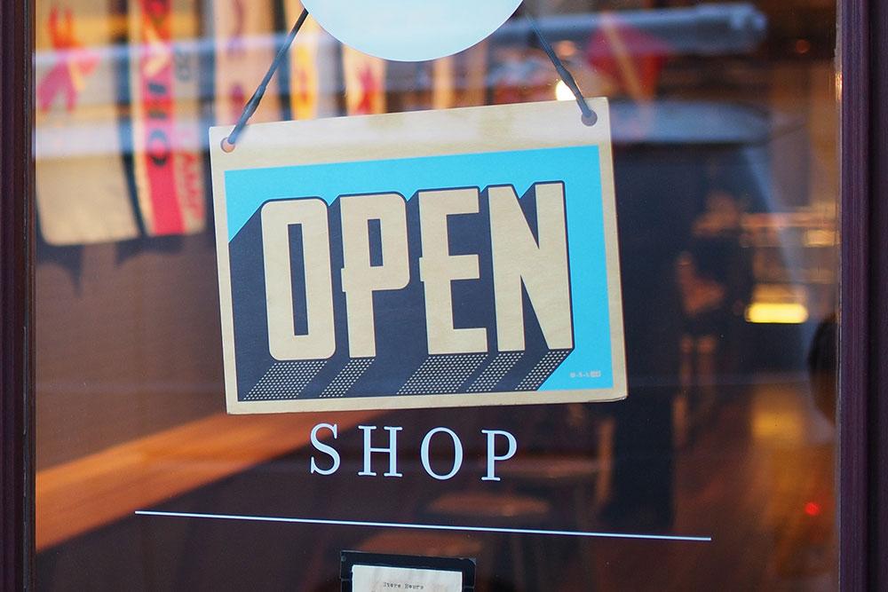 A shop open sign