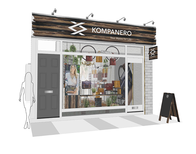 Kompanero store visuals by Barber Design
