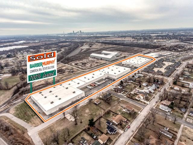 Aerial of large multi unit industrial complex