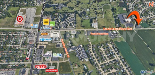 Area Map of 391 Frank Scott Parkway East, Fairview Heights, IL 62208, Office for Sale