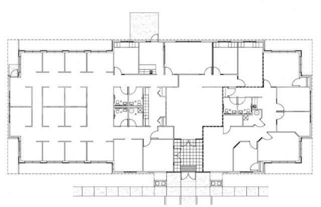 Floor Plan for 6,500 SF Office Building for Sale