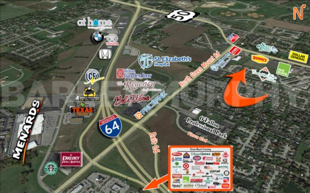 Area Map for 2,200  SF Office/Studio Space - For Lease, Cambridge Office Park,772 Wall St, OFallon, Illinois 62269