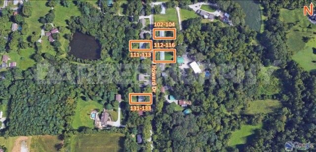 Site Map for Fully Leased Multi-Family Investment Opportunity, Howard Dr., Belleville, 62223