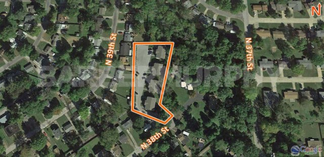 Site Map for Complex for Fully Leased 4 Plex Apartment Complex, 510 North 38th St, Belleville, Illinois 62226