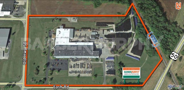 Aerial Image of Facility for Crane Served Heavy Manufacturing Facility, 11037 Old Hwy 50, Flora, Illinois 62839
