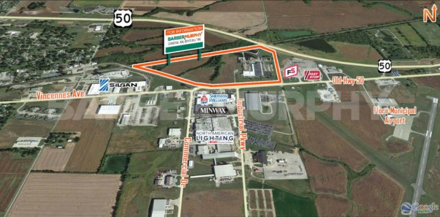 Expanded Aerial Image for Crane Served Heavy Manufacturing Facility, 11037 Old Hwy 50, Flora, Illinois 62839