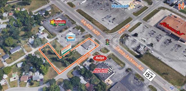 Site Map of 2,200 SF Medical Office For Sale, 1518 Camp Jackson Rd, Cahokia, Illinois 62034