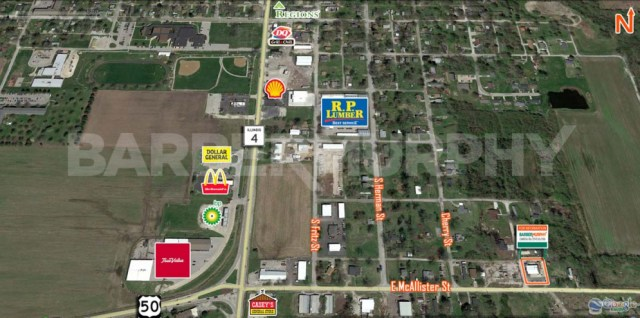 Area Map for 509 East McAllister St., Lebanon, IL 62254