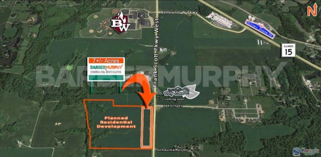 Area Map for 7 Acre Commercial Development - Up to 8 Subdivided Lots Available, Frank Scott Pkwy West, Belleville, IL 62223, St. Clair County