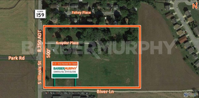 Site Map for 9 Acre Development Opportunity, IL Route 159 and Biver Lane, Belleville, IL 62221