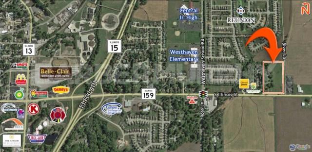 Area Map for 9 Acre Development Opportunity, IL Route 159 and Biver Lane, Belleville, IL 62221