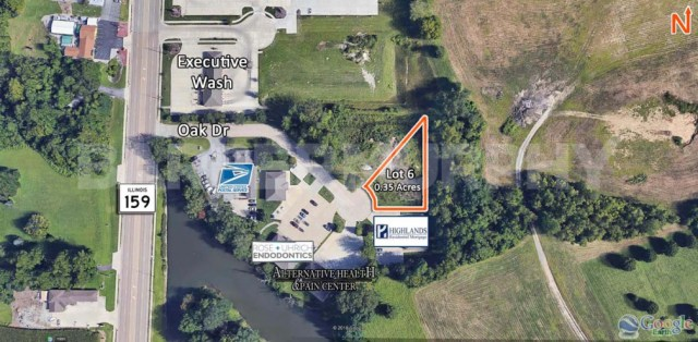 Site Map of Lot 6 for Sale on Oak Drive in Maryville, IL