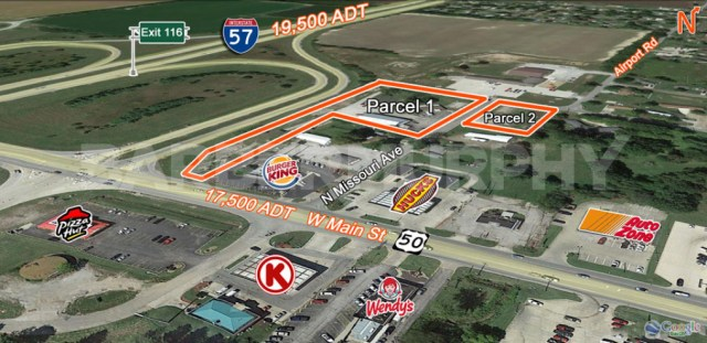 Site Map for 4.76 Acre Commercial, Industrial Property with Industrial Building on Site
