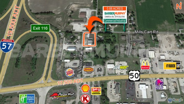 Site Map for 0.88 Acre Commercial, Industrial Site for Sale