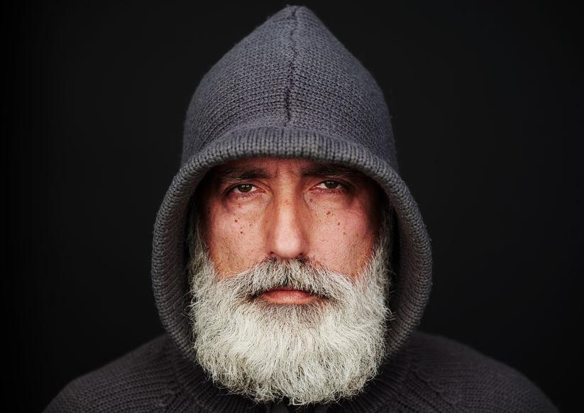 Bart glatze mode mit Stehen Frauen