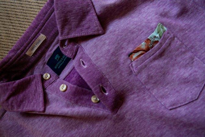 Polo Purple avec poche rétro