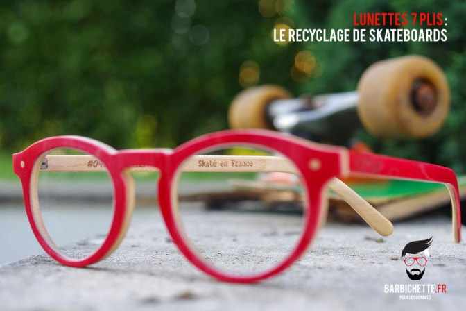 7Plis - La branche des lunettes est gravée