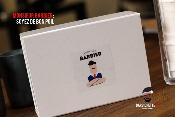 Monsieur Barbier - Réception de la Box